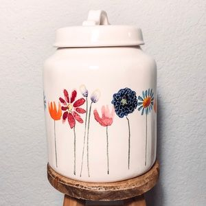 Rae Dunn Watercolor Bloom Canister